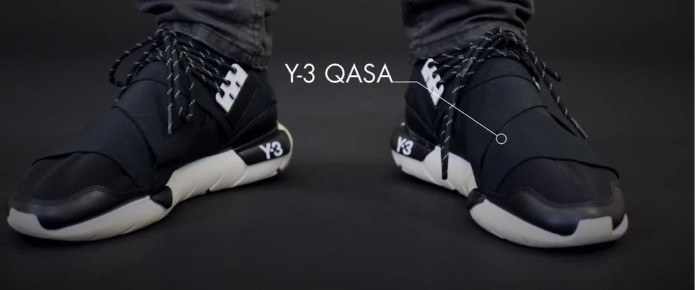 the latest 6abe3 c56ce Slickness from Yohji Yamamoto – Adidas Y-3 Qasa – The Word on the Feet