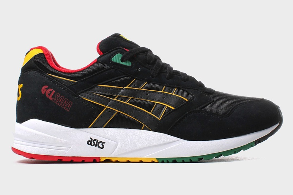 asics-gel-saga-black-yellow-red-green