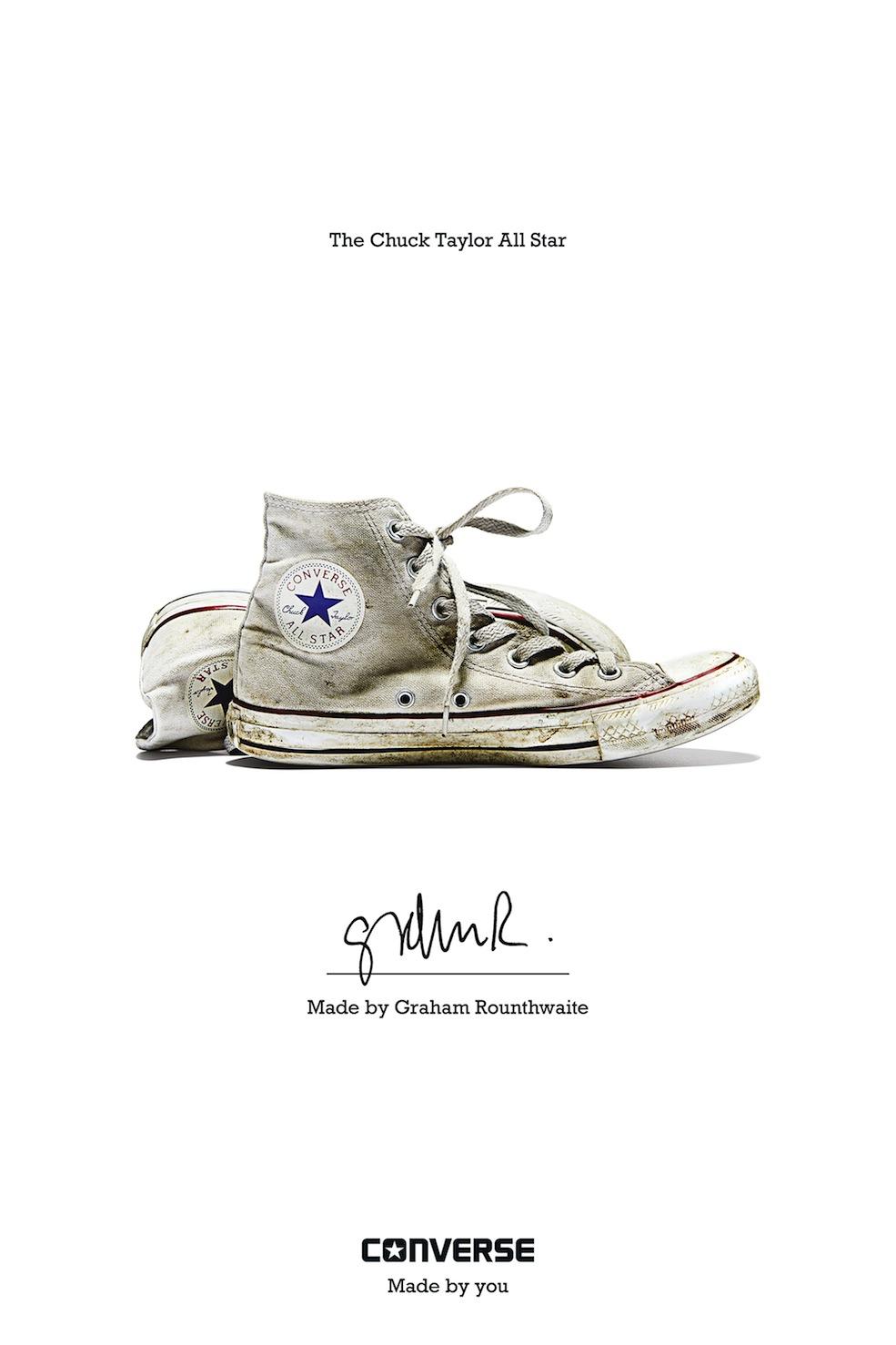 Graham Rounthwaite - Converse Sneaker Portrait