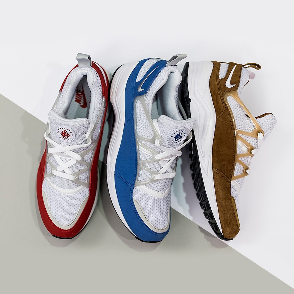 So we peeped a couple of shots of the OG red and blue makeups of the Huarache  Light a couple days ago but then received some shots from the good people  at