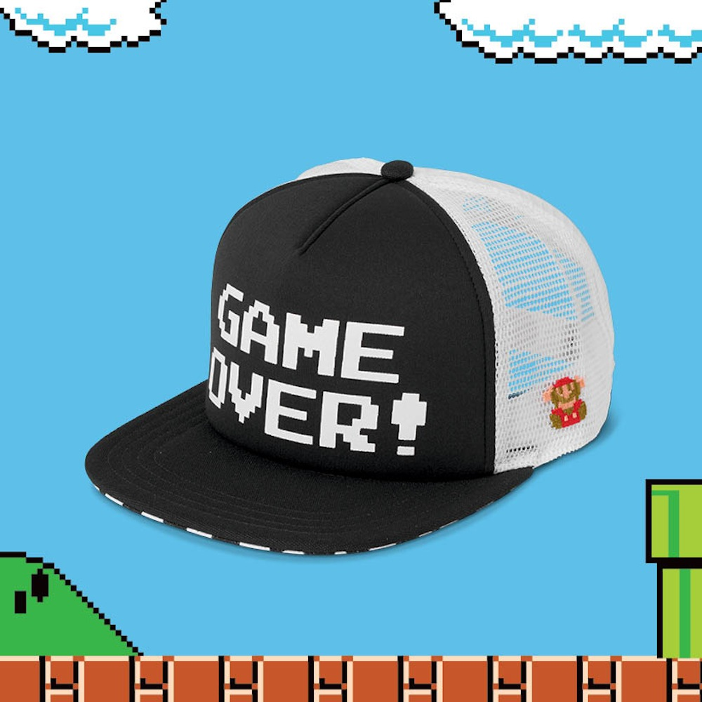 FA16-GH447_NintendoTruckerHat_GameOver_Front-ELEVATED