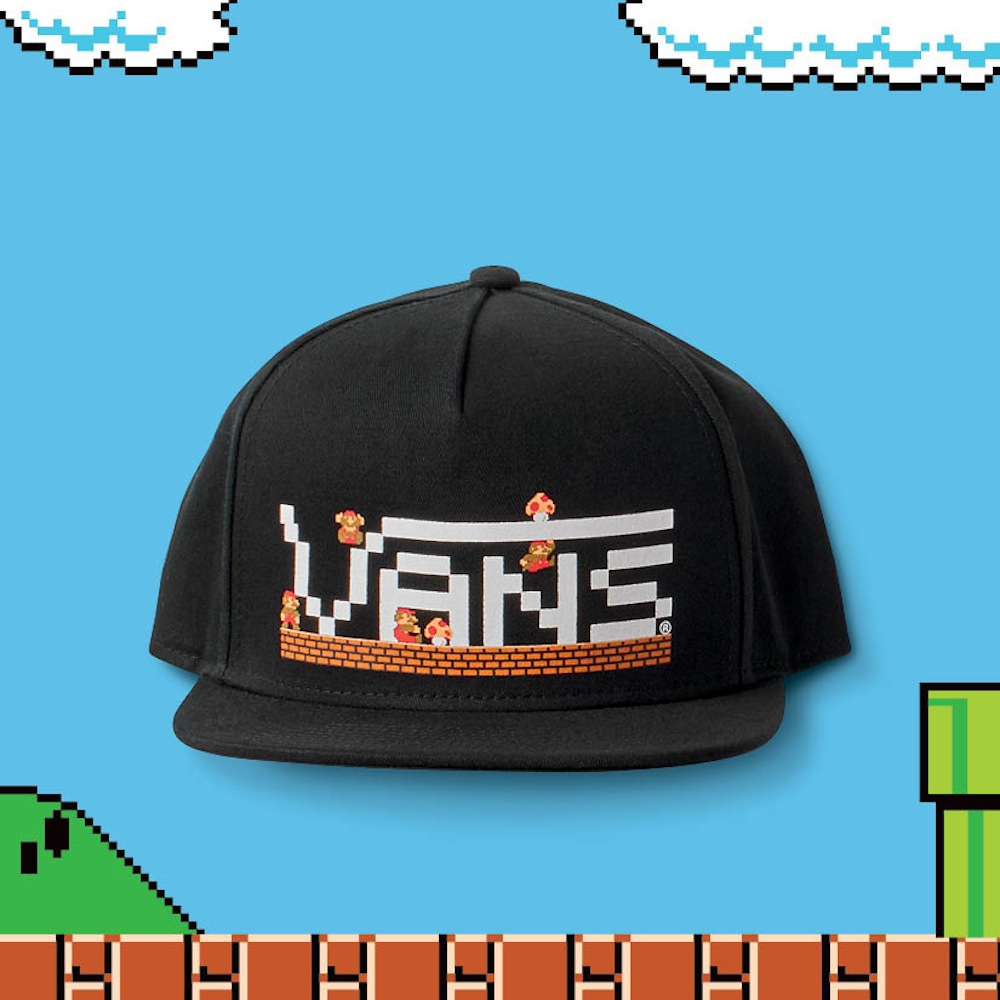 FA16_NintendoApparel_MnNintendoXVansSnapbackMario_Black_Flat1-ELEVATED