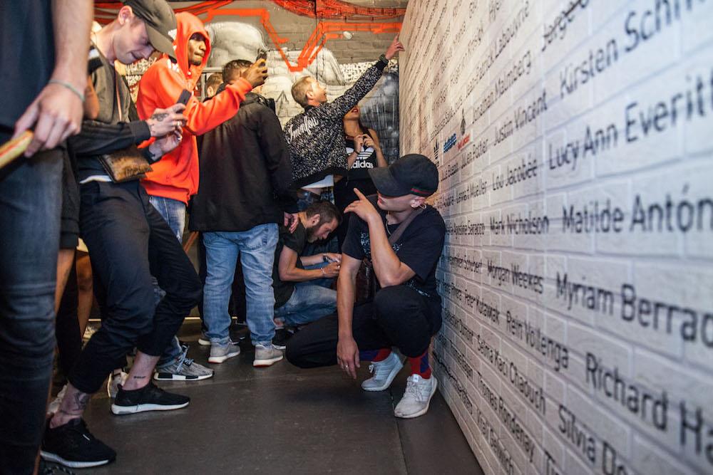 Adidas Tubular sneaker launch in Yoyo, Palais de Tokyo